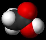 Model 3-dimensi dari molekul asam asetat
