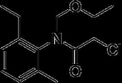 Strukturformel von Acetochlor