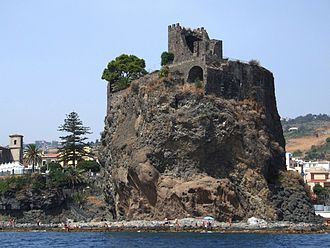 Castello Normanno (Aci Castello) - View of the castle from the eastern, seaward side