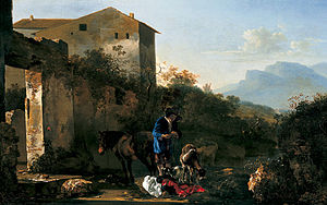 Adam Pynacker - Landscape with a herd of goats, St. Louis Art Museum.
