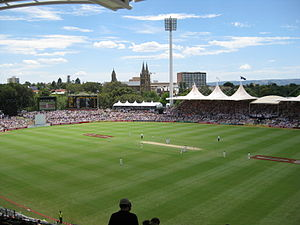 English: Adelaide Oval looking NE from the new...