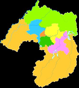 Liaoyang - Image: Administrative Division Liaoyang