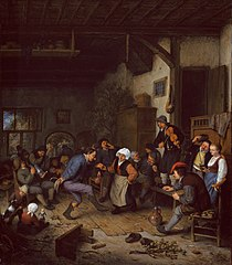 Merrymakers in an Inn