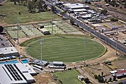 Aerial view of Robertson Oval in Wagga Wagga