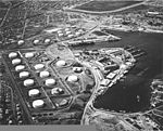 Aerial view of the Pearl Harbor submarine base and adjacent fuel tank farms on 13 October 1941 (80-G-182880).jpg