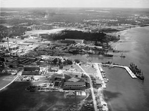 Charleston Naval Shipyard - Aerial view of the Charleston Navy Yard in 1941.