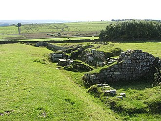 Aesica - Remains of Aesica Roman Fort (West Gate)