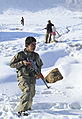 Afghan local police (ALP) personnel provide security during a patrol in Baron China village in the Shah Joy district of Zabul province, Afghanistan, Jan 120131-N-CI175-134.jpg