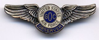Ground Observer Corps - 1950s civilian GOC pin
