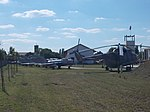 Aircraft at Ószolnok railway station, 2017 Szolnok.jpg