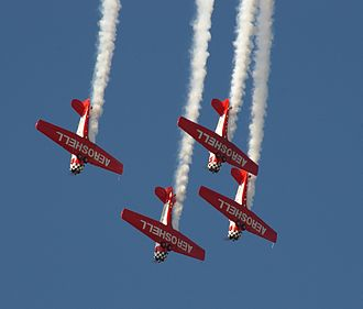 EAA AirVenture Oshkosh - Aeroshell Aerobatic Team performing at EAA AirVenture 2007