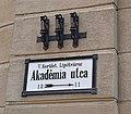 Akademia utca, Budapest, street sign.jpg