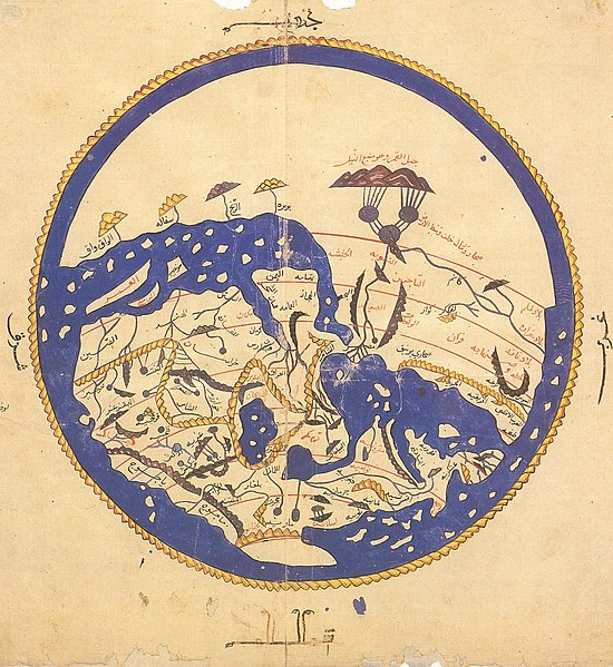 پرونده:Al-Idrisi's world map.JPG
