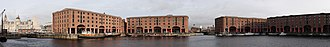 Liverpool Maritime Mercantile City - A panoramic view of the Albert Dock today.
