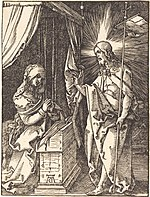 Albrecht Dürer, Christ Appearing to His Mother, probably c. 1509-1510, NGA 6780.jpg