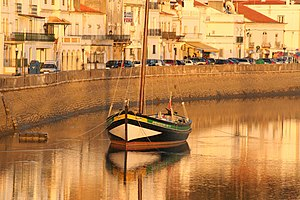 Alcácer do Sal - Historical boat along the Sado River in the town of Alcácer do Sal