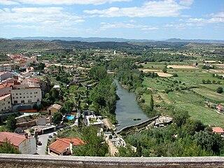 Guadalope river in Aragon, Spain