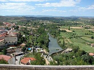 Guadalope - The Guadalope in Alcañiz