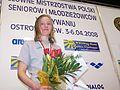 Aleksandra Cisowska - srebrny medal na 1500m MPS 2008.jpg