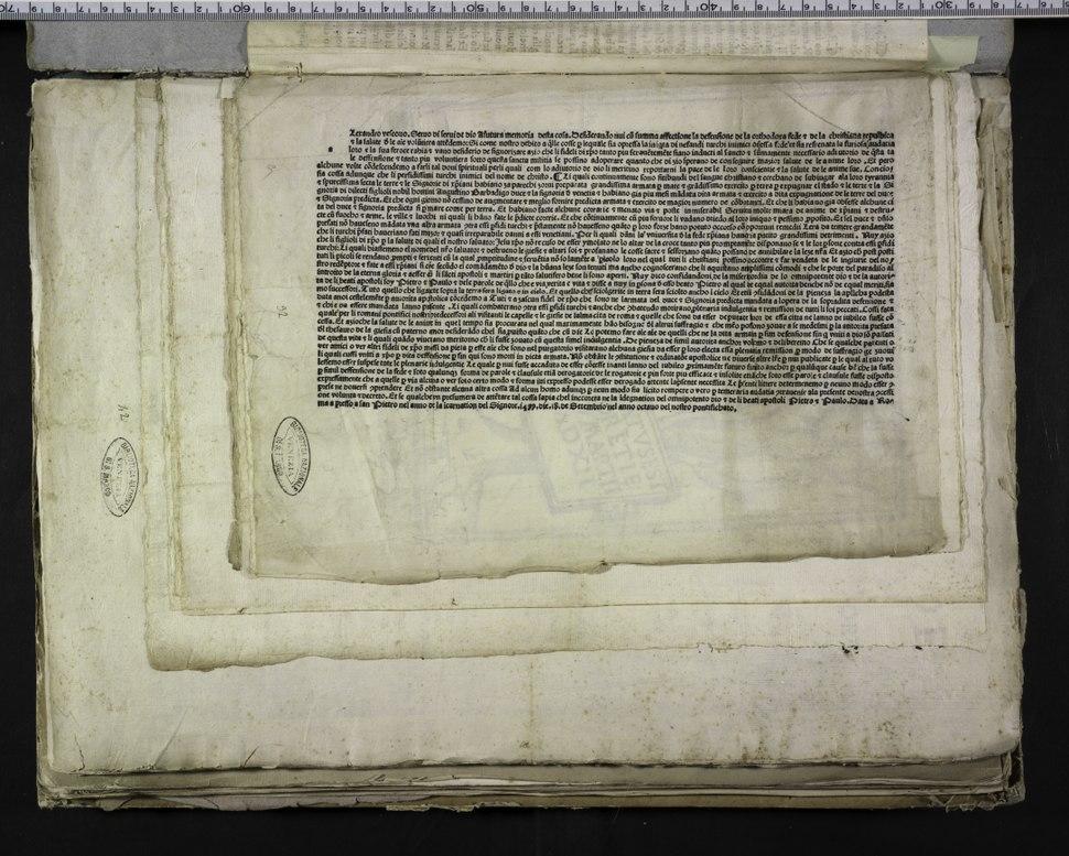 """Alexander - Bolla """"Desiderando nui"""", dopo il 18 settembre 1499 - 2951587"""
