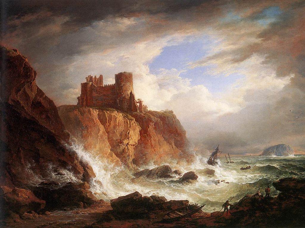 Chateau du Tantallon castle par Alexander Nasmyth en 1816.