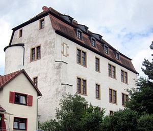 Südliche Ecke der Huttenburg, gesehen von der Ulrich-von-Hutten-Straße (Juni 2011)