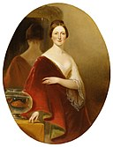 Alfred Jacob Miller - Portrait of Mrs Decatur Howard Miller (Eliza Credilla Hare) - Walters 372557.jpg