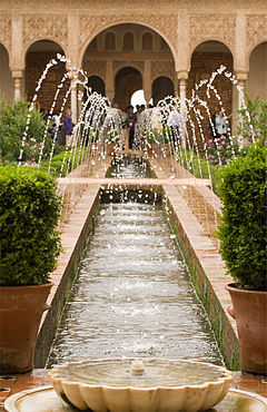 Alhambra Generalife fountains.jpg