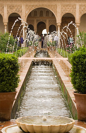 The Court of the Main Canal, Generalife Palace...