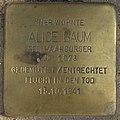 Alice Baum - Efeuweg 16 (Hamburg-Winterhude).Stolperstein.crop.ajb.jpg