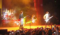 The All-American Rejects on a less-smoky stage