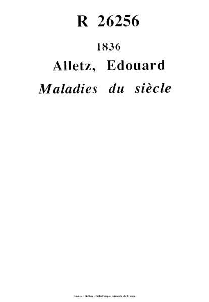 File:Alletz - Maladies du siècle.djvu