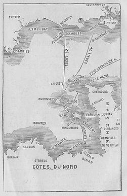 Almanach Nouvelle Chronique de Jersey 1891 carte localisation Îles de la Manche.jpg