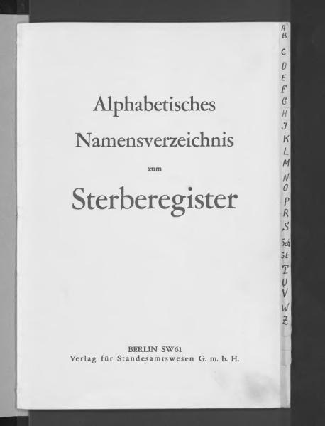 File:Alphabetisches Namensverzeichnis zum Sterberegister des Standesamtes Minden, 1935.djvu