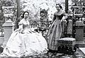 Amalia queen of Greece with Elisabeth grand duchess of Oldenburg mid 1860s.jpg