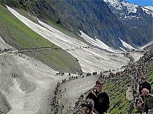 1996 Amarnath Yatra tragedy - Pilgrims on route to Amarnath Shrine.