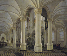 Choir of the Nieuwe Kerk in Delft with the tomb of William the Silent