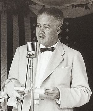 Karl L. Rankin - Karl Rankin delivering remarks at National Taiwan University Hospital's new facility groundbreaking ceremony, 31 August 1953.
