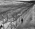 American soldiers patrol the perimeter of the newly liberated Woebbelin concentration camp.jpg