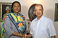 Amina Mohamed and James Michel, June 2014.jpg