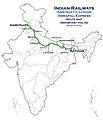 Amrapali Express (Amritsar - Katihar) Route map.jpg