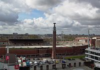 The 1928 Olympic Stadium in Amsterdam, designed by Jan Wils, won the gold medal in architecture at the 1928 Olympics.