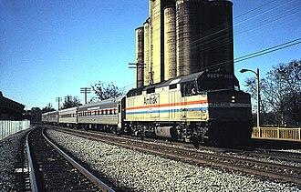 Gulf Breeze (train) - The Gulf Breeze at Montgomery in June 1990