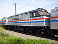 Amtrak NPCU 406 40th anniversary paint at Perryville.jpg