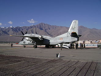 Antonov An-32 - Antonov An-32B of the Indian Air Force at Leh Airbase.