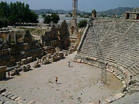 http://upload.wikimedia.org/wikipedia/commons/thumb/d/db/Ancient_Roman_theater_in_Myra.jpg/280px-Ancient_Roman_theater_in_Myra.jpg