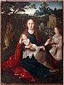 André lopes e antón de vega (attr.), madonna col bambino e un angelo, xvi secolo.jpg