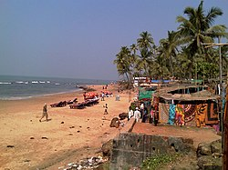 Anjuna beach near village's tourist market