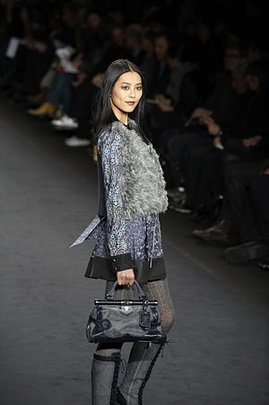 Anna Sui - Liu Wen on the runway at Anna Sui Fall/Winter 2010.