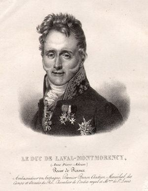 Anne-Adrien-Pierre de Montmorency-Laval - S.E. le duc de Laval-Montmorency in 1835